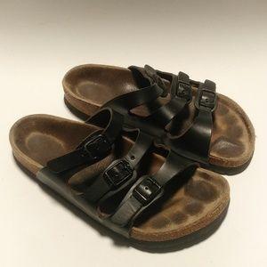 Birkenstock black 3 strap Florida sandals
